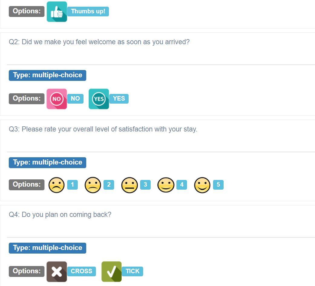 Relevant response options